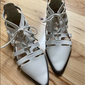 Forever 21 white cutout shoes